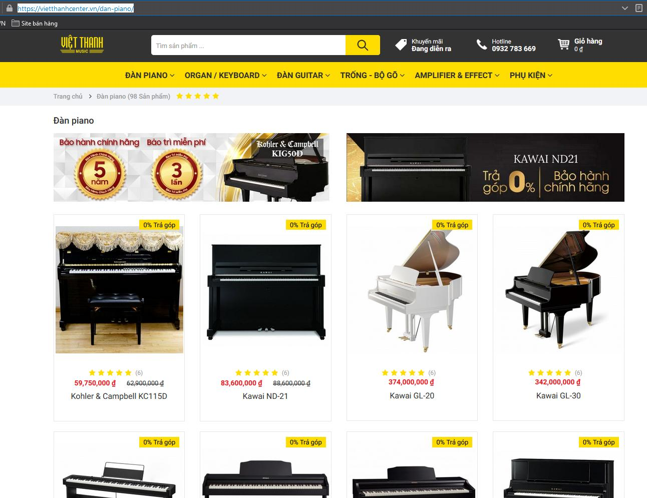 Shop piano Việt Thanh